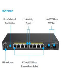 EWS-2910 P  | EnGenius Neutron Series 8-Port Gigabit 61.6W PoE WLAN Management Controller/Switch